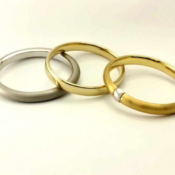Gold Armreif - 3016/7,8 und 3043/8,8 und 3076/8,7